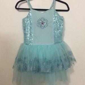 Blue Elsa Princess Summer Dress